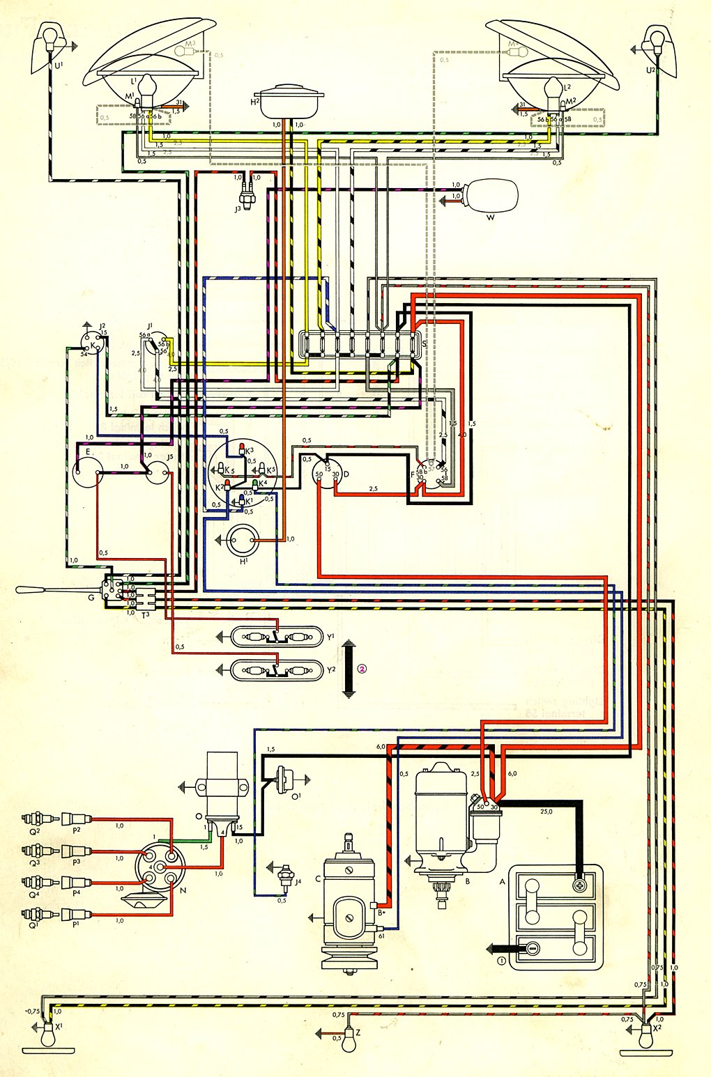 Vw Bus Engine Diagram Wiring Will Be A Thing 1978 78 Type 4 1979 Beetle